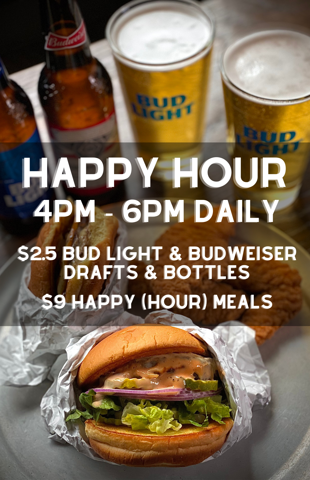 Happy Hour 4pm-6pm Daily